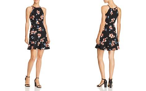 AQUA Floral Print Flounce-Hem Dress - 100% Exclusive - Bloomingdale's_2
