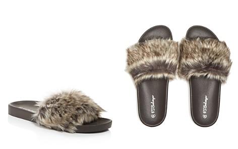 PJ Salvage Faux Fur Molded Slide Slippers - Bloomingdale's_2