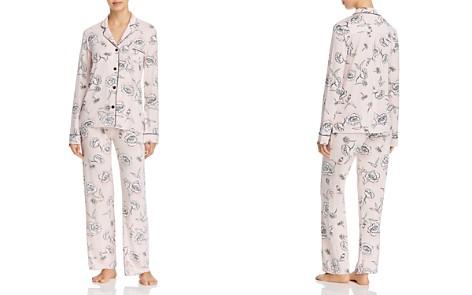 PJ Salvage Shadow Stripe Floral Long Jersey PJ Set - Bloomingdale's_2