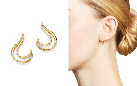 Bloomingdale's Diamond Double J Drop Earrings in 14K Yellow Gold, 0.25 ct. t.w. - 100% Exclusive_2