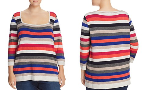 525 America Plus Square-Neck Striped Sweater - Bloomingdale's_2