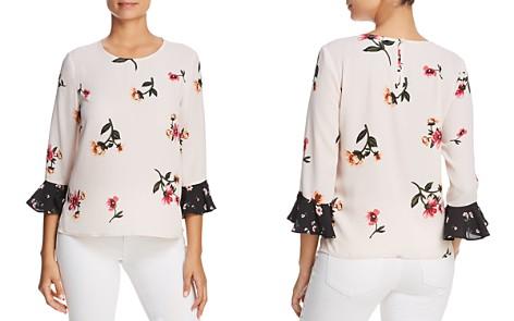 Finn & Grace Mixed Floral Bell Sleeve Top - Bloomingdale's_2