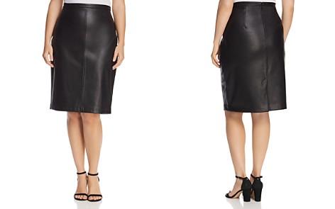 Estelle Plus Troubled Weather Faux-Leather Pencil Skirt - Bloomingdale's_2