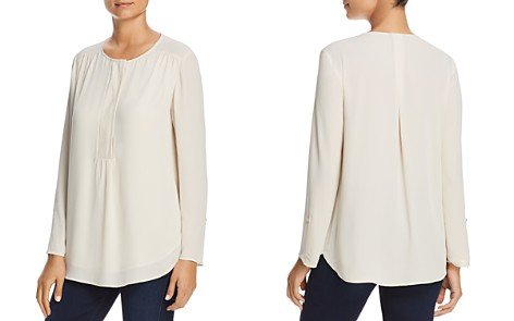 NIC+ZOE Shirred Roll-Cuff Blouse - Bloomingdale's_2