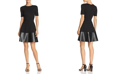 AQUA Faux Leather-Hem Dress - 100% Exclusive - Bloomingdale's_2