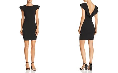 AQUA Ruffled V-Back Body-Con Dress - 100% Exclusive - Bloomingdale's_2