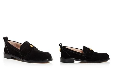 Stuart Weitzman Women's Crome Almond Toe Suede Loafers - Bloomingdale's_2