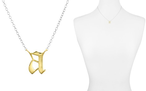 """Argento Vivo Two Tone Gothic Initial Pendant Necklace, 16"""" - Bloomingdale's_2"""