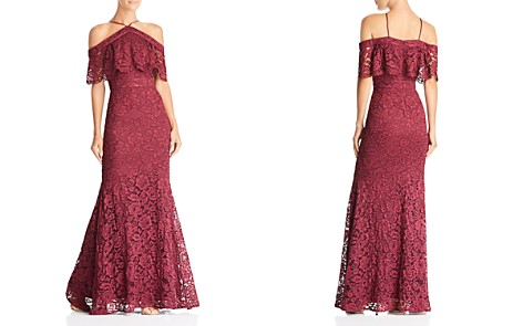Laundry by Shelli Segal Cold-Shoulder Lace Gown - Bloomingdale's_2