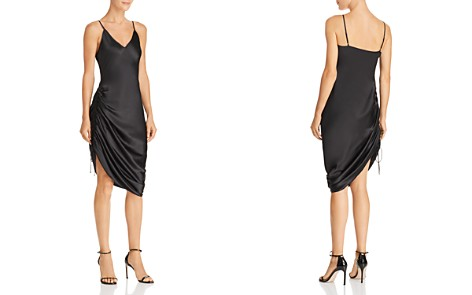 CAMI NYC Luka Ruched Drawstring Silk Slip Dress - Bloomingdale's_2