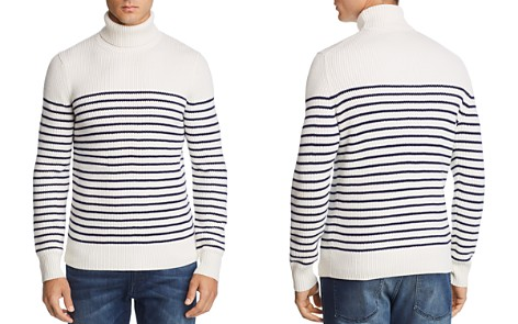 The Men's Store at Bloomingdale's Striped Merino Wool Turtleneck Sweater - 100% Exclusive_2