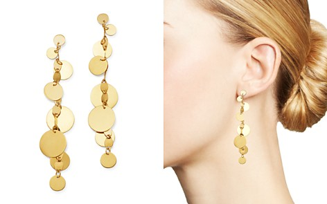 Moon & Meadow 14K Yellow Gold Gradient Disc Teardrop Dangle Earrings - 100% Exclusive - Bloomingdale's_2