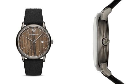 Emporio Armani Woodgrain Dial & Felt Strap Watch, 43mm - Bloomingdale's_2