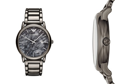 Emporio Armani Gray Stainless Steel Watch, 43mm - Bloomingdale's_2