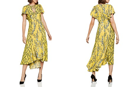 BCBGMAXAZRIA Botanical Print High/Low Midi Dress - Bloomingdale's_2