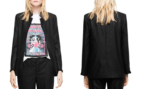Zadig & Voltaire Volly Stripes Open-Front Blazer - Bloomingdale's_2