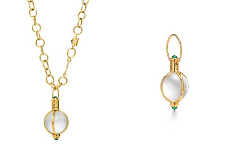 Temple St. Clair 18K Yellow Gold Emerald & Natural Rock Crystal Classic Round Amulet Pendant - Bloomingdale's_2