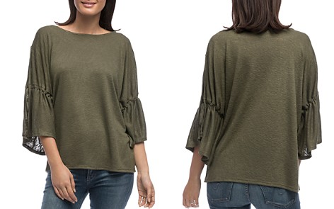 B Collection by Bobeau Sabrina Drawstring Sleeve Top - Bloomingdale's_2