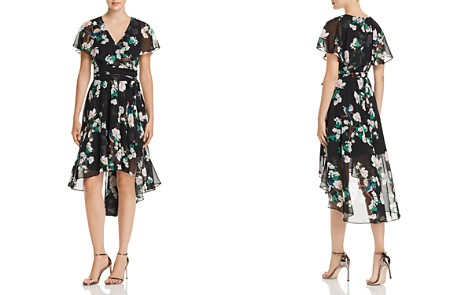 Eliza J Floral Print Faux-Wrap High/Low Dress - Bloomingdale's_2