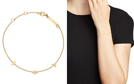 Zoë Chicco 14K Yellow Gold Itty Bitty Lightning Bolt, Moon & Star Diamond Adjustable Bracelet - Bloomingdale's_2
