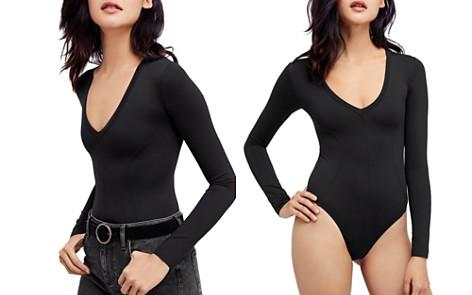 Free People Super Soft Deep-V Bodysuit - Bloomingdale's_2