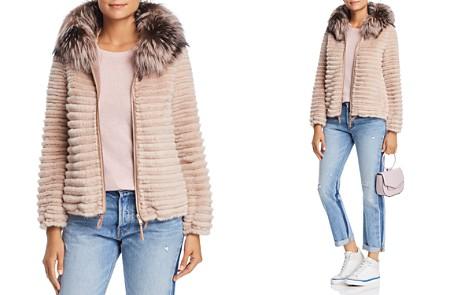 Maximilian Furs Hooded Beaver Fur Jacket with Fox & Mink Fur Trim - 100% Exclusive - Bloomingdale's_2