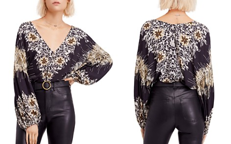 Free People Floral-Print V-Neck Blouse - Bloomingdale's_2