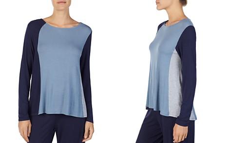 Donna Karan Long-Sleeve Colorblock Top - Bloomingdale's_2