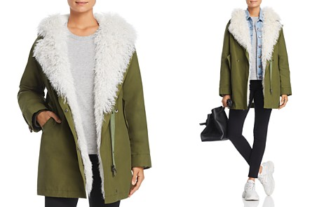 Maximilian Furs Rabbit Fur-Lined Parka with Lamb Shearling Trim - 100% Exclusive - Bloomingdale's_2