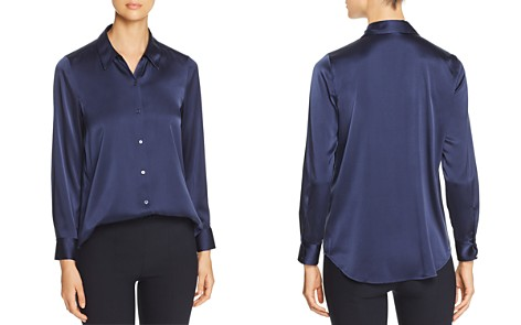 Eileen Fisher Classic Stretch-Silk Shirt - Bloomingdale's_2