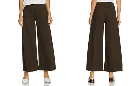 Elizabeth and James Carmine Wide-Leg Jeans in Combat - Bloomingdale's_2