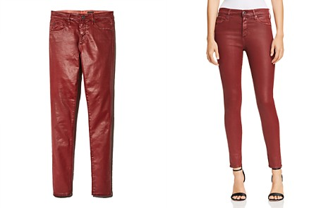 AG Farrah Ankle Skinny Jeans in Tannic Red - Bloomingdale's_2