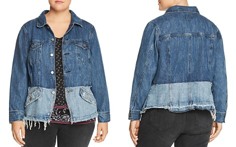 Lucky Brand Plus Shrunken Two-Tone Denim Jacket - Bloomingdale's_2