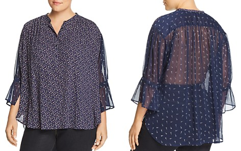 Lucky Brand Plus Semi-Sheer Floral Print Tunic - Bloomingdale's_2