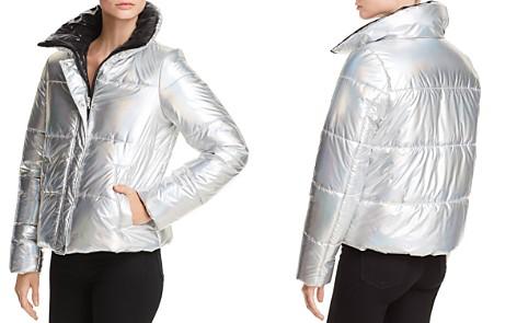 AQUA Iridescent Puffer Jacket - 100% Exclusive - Bloomingdale's_2