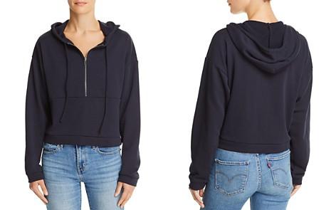 Honey Punch Half-Zip Cropped Hooded Sweatshirt - 100% Exclusive - Bloomingdale's_2