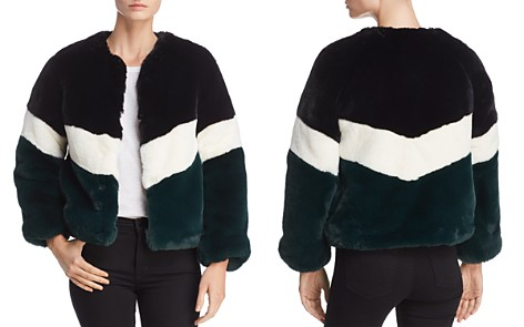 Apparis Brigitte Color-Blocked Faux-Fur Jacket - Bloomingdale's_2
