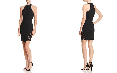 AQUA Lace-Inset Asymmetric Body-Con Dress - 100% Exclusive - Bloomingdale's_2