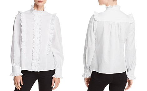 AQUA Victorian Ruffled Shirt - 100% Exclusive - Bloomingdale's_2