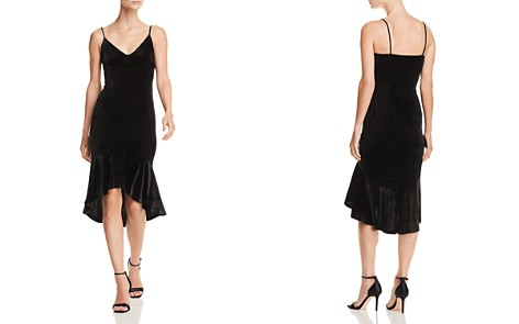 AQUA Ruffle-Hem Velvet Midi Dress - 100% Exclusive - Bloomingdale's_2