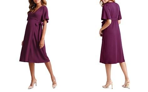 Ingrid & Isabel Maternity Flutter-Sleeve Wrap Dress - Bloomingdale's_2