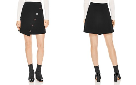 Sandro Fiji Asymmetric Decorative-Button Skirt - Bloomingdale's_2
