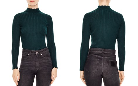 Sandro Scalloped Ribbed Openwork Sweater - Bloomingdale's_2