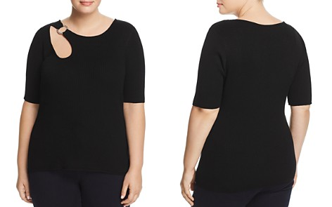 Alison Andrews Plus Ring Cutout Knit Top - Bloomingdale's_2