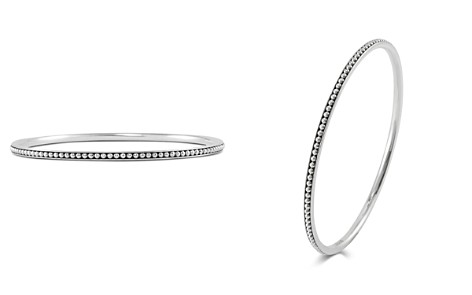 LAGOS Sterling Silver Signature Caviar Bangle Bracelet - Bloomingdale's_2