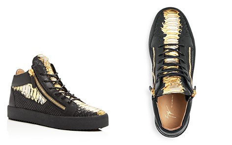 Giuseppe Zanotti Men's Painted Croc-Embossed Leather Mid Top Sneakers - Bloomingdale's_2