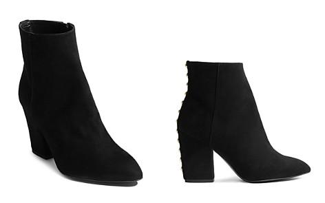 KAREN MILLEN Women's Pointed Toe Studded Leather Block High-Heel Booties - Bloomingdale's_2