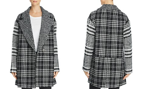 FRENCH CONNECTION Belinda Mixed-Plaid Coat - Bloomingdale's_2