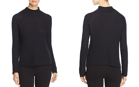Emporio Armani Ribbed Wool Funnel-Neck Sweater - Bloomingdale's_2