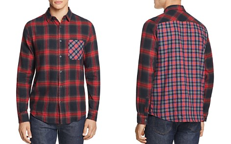 Sovereign Code Local Legend Mixed-Print Flannel Regular Fit Button-Down Shirt - 100% Exclusive - Bloomingdale's_2